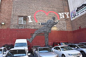 "I Love New York - Nick Walker's ""Love Vandal"" at 17th Street and 6th Avenue in Manhattan"