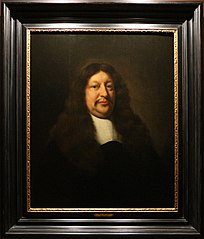 Portrait of Jan van Royen in black velvet, with a large brown wig