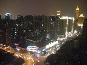 Nan'an District - Night view of Nan'an.
