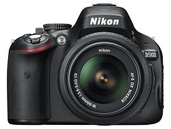 Nikon D5100 with 18-55mm VR kit lens