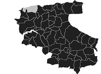 Ilfracombe - North Devon divisions with Ilfracombe highlighted