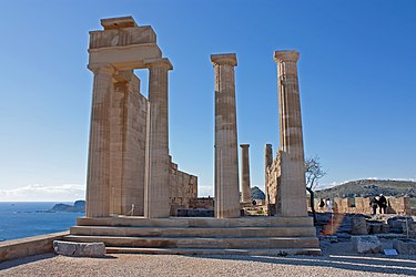 North end of the Temple of Athena Lindia 2010.jpg