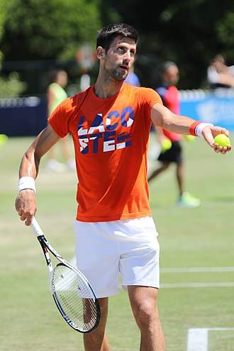 2017 Novak Djokovic tennis season - Novak getting ready for Wimbledon (2017).