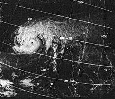 Satellittbilde av syklonen 11. november 1970.  Foto: NOAA