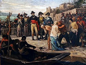 Drownings at Nantes - The Drownings at Nantes in 1793, painting by Joseph Aubert (1882), Musée d'art et d'histoire de Cholet