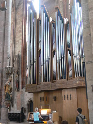 St. Sebaldus Church, Nuremberg - The organ of 1975 by Peter of Köln