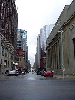 Vista do centro financeiro de Ottawa.