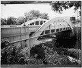 OBLIQUE VIEW OF NORTH TRUSS - Spring Street Bridge, Spanning Duncan Creek, Chippewa Falls, Chippewa County, WI HAER WIS,9-CHIFA,2-2.tif
