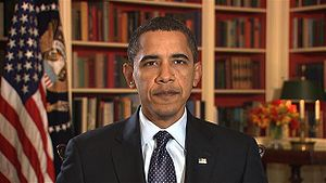 Picture of Barack Obama's first Weekly Address...