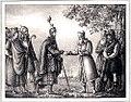 Odens ankomst till Sverige och förening med Gylfe by Hugo Hamilton.jpg