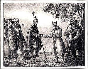 Gylfi - Gylfi greets Odin
