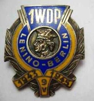 1st Mechanised Division (Poland) - Image: Odznaka 1 WDP
