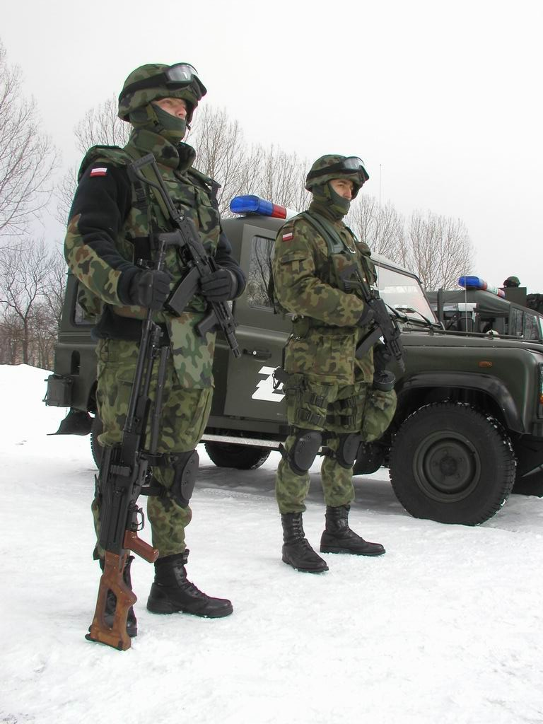 Officers of polish military police
