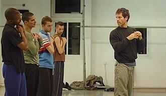 Ohad Naharin - Ohad Naharin instructing dancers