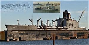USNS Henry J. Kaiser (T-AO-187) - Henry J. Kaiser in San Francisco Dry Dock, November 2014