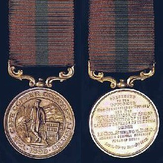 Namaqualand 0-4-2ST Pioneer - Cape Copper Company Medal for the Defence of O'okiep