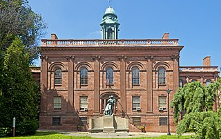 Old Albany Academy Building memorial in Albany, New York, USA