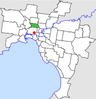 City of Brunswick - Location in Melbourne