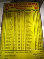 Old taxi rates at the Dabolim airport in Goa... dating back to circa 2006.jpg