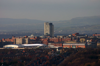Oldham town in Greater Manchester, England