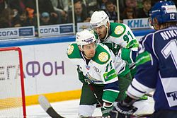 Oleg Saprykin and Richard Stehlík 2011-09-23 Amur—Salavat KHL-game.jpeg