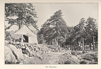 Troodos Mountains - Picture of a campsite in Troodos in 1900