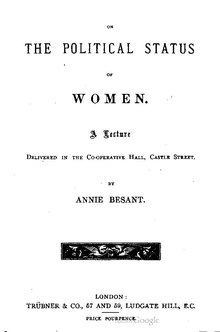 On the Political Status of Women (Annie Besant).pdf