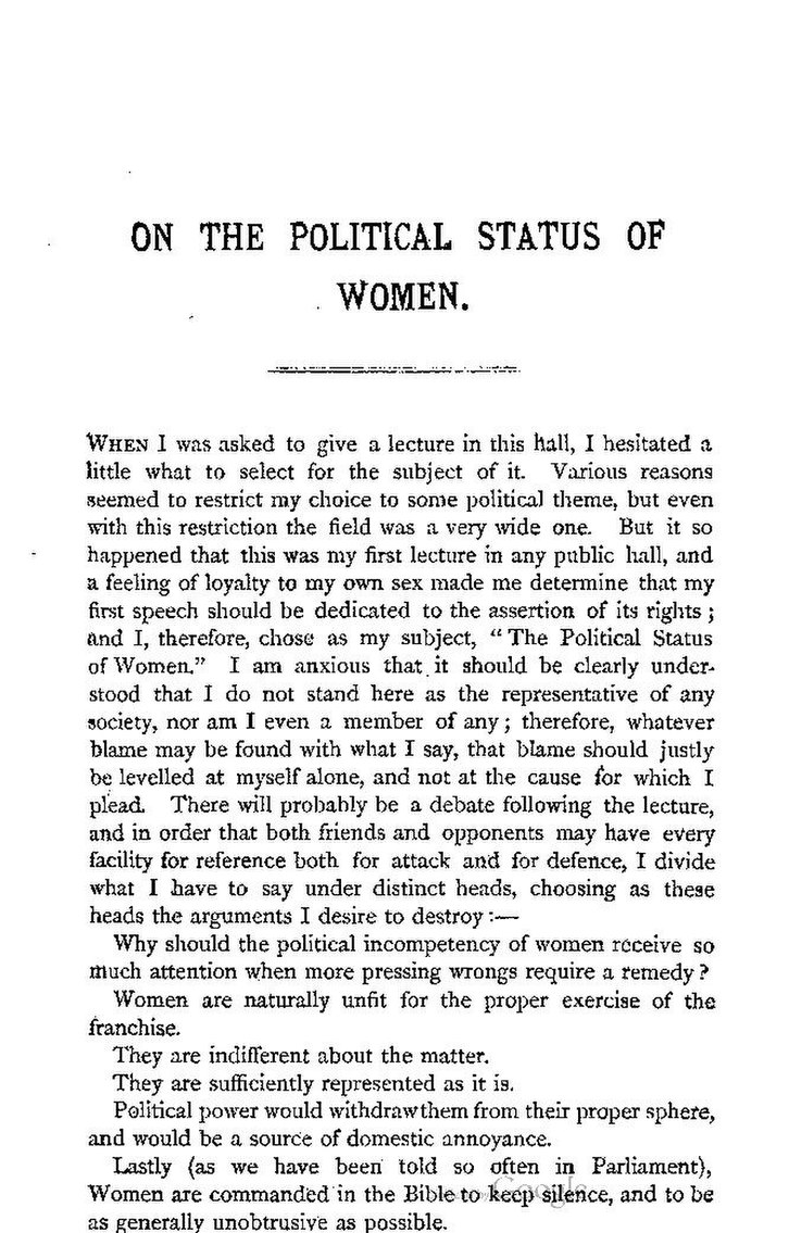 woman and political status Get this from a library the political status of women [annie besant.