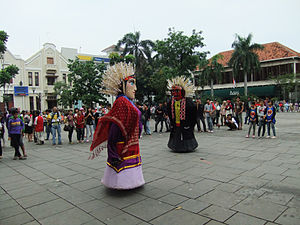 Fatahillah Square - Ondel-ondel performance at Fatahillah Square