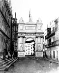 One of the three triumphal archs in seville for the arrival of Queen Isabel II, 2.jpg