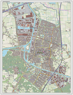 Oosterhout - Dutch Topographic map of Oosterhout, as per March 2014