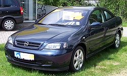 Opel Astra F cupé (El Chevrolet Astra es casi igual)