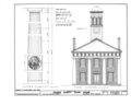 Orange County Courthouse, King and Churton Streets, Hillsborough, Orange County, NC HABS NC,68-HILBO,4- (sheet 4 of 20).png
