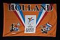 """Oranje vlag met de logo's van Euro 2000 en opschrift """"Holland"""", objectnr 78399.JPG"""