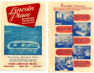 Lincoln Place Apartment Homes - Lincoln Place Brochure from 1951: front