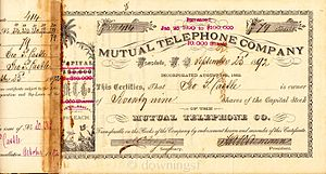 Hawaiian Telcom - Original company stock certificate