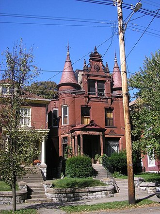Original Highlands, Louisville - An example of the elaborate home architecture found in the Original Highlands