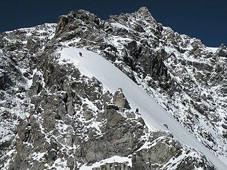 High mountain tour - Mixed terrain on the Ortler's Hinter Arête, a classic high mountain tour