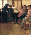 Oscar Björck - Madam Henriksen's school for girls in Skagen - Google Art Project.jpg
