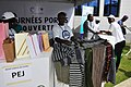 Oswald Homéky, ministre béninois du tourisme au parc Pendjari après la disparition des deux touristes français 002.jpg
