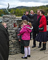 Otter Sculpture unveiling by HRH Princess Anne Loch at Lomond by sculptor Laurence Broderick.jpg
