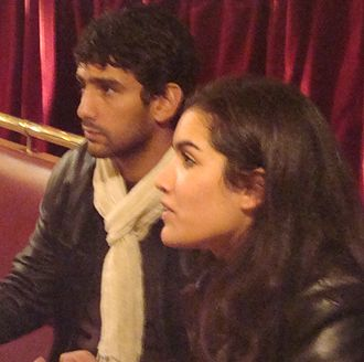 Salim Kechiouche - Salim Kechiouche and Sabrina Ouazani at the premiere of Tenir Tête at  Aubervilliers, October 2009