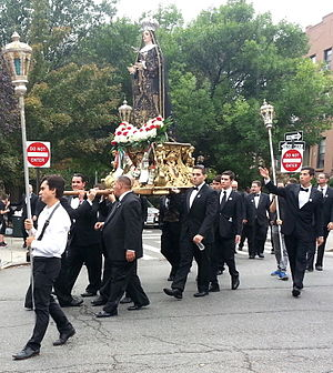Our Lady of Sorrows - An annual Our Lady of Sorrows procession in Carroll Gardens, Brooklyn is a tradition begun in the 1940s by immigrants from Mola di Bari, celebrating their hometown patroness