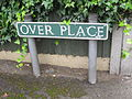 Over Place sign, Knutsford.JPG