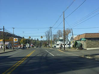 Lawrenceville, Pennsylvania - Looking north on Main Street in Lawrenceville