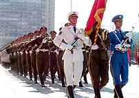 People's Liberation Army in dress uniform, currently the largest army in the world in number of people