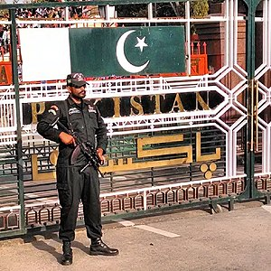 Pakistan Rangers - A Pakistani Ranger- Punjab at the Wagah border.