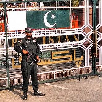 Paramilitary forces of Pakistan - Image: Pak Ranger at Wagah