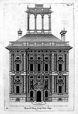 Таблица 33 из книги Рубенса Palazzi di Genova