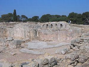 Empúries - Palaeochristian basilica at Ampurias